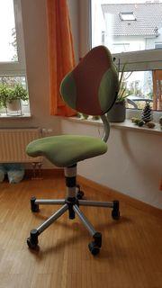 Paidi Schreibtisch-Drehstuhl Pedro Hartbodenrollen Grün-Orange