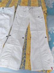 3xweiße Hosen gr40