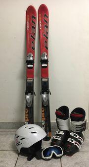 Geschenkset mit Ski Schuhe Helm