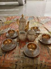 Mocca Espresso Servise wunderschön vergoldet