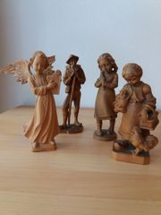 4 Holz-Schnitzfiguren aus dem Grödner