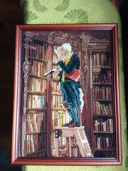 Gobelinbild Der Bücherwurm Spitzweg