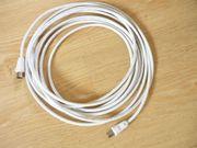Hama Antennenkabel für Kabelfernsehen weiß