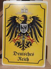 Türschild Deutsches Reich Preußen Stahlschild