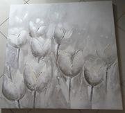 Leinwandbild Originale Tulpen 100x100