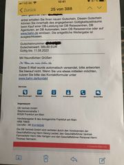 Gutschein Deutsche Bahn Wert 389
