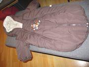 babykuschelsack winteranzug braun ca 0-3