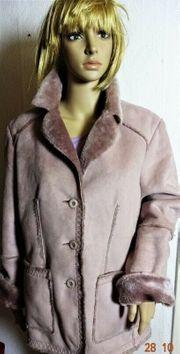 Winterjacke für Damen rosafarben innen
