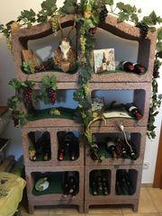 Weinregal aus Weinlagersteinen