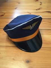 Pilotenmütze Kapitänsmütze für Fasching Halloween