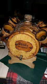 Whiskyfässchen mit 6 Gläsern