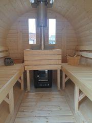 Mobile Sauna Saunafass mieten L250cm