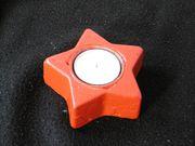 Weihnachtsstern Teelichthalter Stern