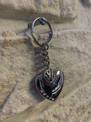 VOLKSWAGEN Schlüsselanhänger Herz mit Swarovski