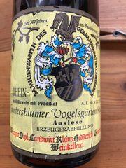 Weißwein 1973 Guntersblumer Vogelsgärten Ruländer