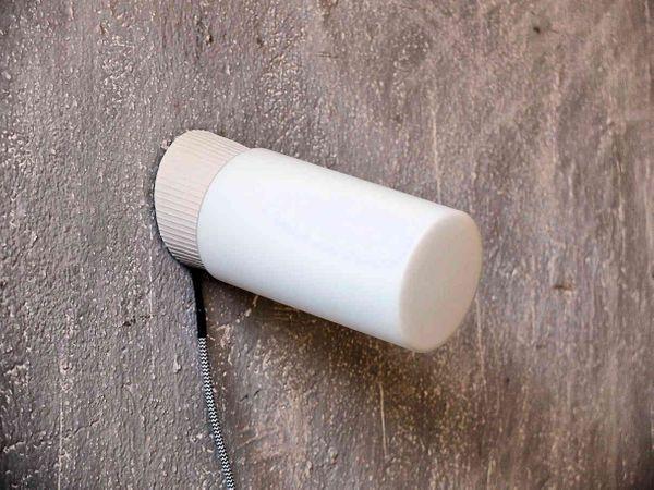 Industrielle Wandleuchten Wandlampen Opalglasschirm - schräg