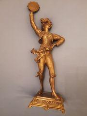 Bronzefigur - Tambourinspieler aus den 1900-1920er