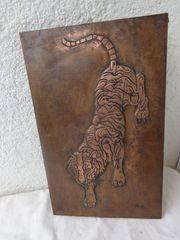 Kupfer-Bild Tiger 26 x 42
