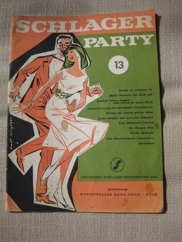 Akkordeon-Notenheft Schlager-Party Bd 13 von
