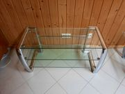 TV Rack GLAS Chromgestell