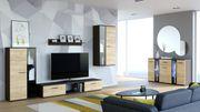 Wohnzimmer - Set Wohnwand Kommode SALSA