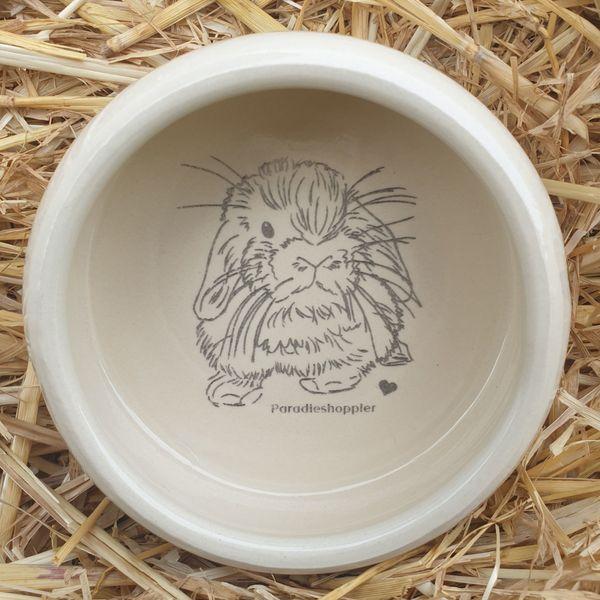 Süßer Keramik Futternapf mit Paradieshoppler