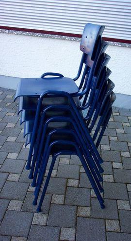 Bild 4 - 6 x Stapelstühle Stühle Stuhl - Gaildorf
