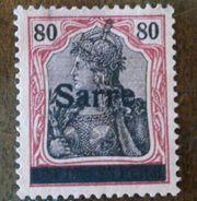 DEUTSCHES REICH 80 SARRE Briefmarke -