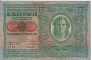 100 Kronen Banknote Österreichisch Ungarische