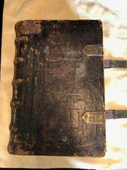 Alte Bibel 1743 echt Leder -