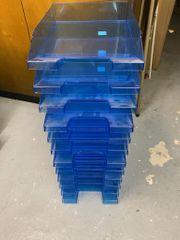 12 Briefablagen A4 transluzent-blau