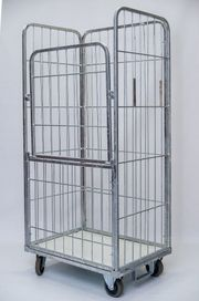 Gitter- Container mit klappbare Tür