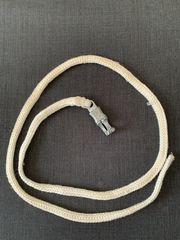 Weißer Anbinde- Führstrick mit Panikhaken