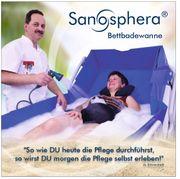 Badesystem für das Pflegebett auf