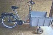 Gesucht wird das gestohlene Lasten-Dreirad-