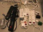 Multimedia Mehrfachsteckdosen Überspannung Verlängerungskabel Feuchtraumleuchte