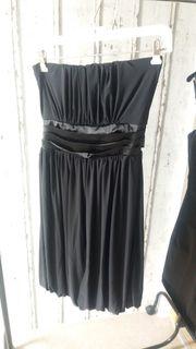 Abendkleid Trägerlos Gr S-M schwarz