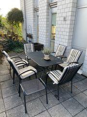 Gartentisch mit 6 Stühlen und