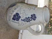 Alter Steinzeug-Krug 1 Liter zu