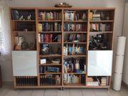 Regal- Bücherwand mit 2 Türen