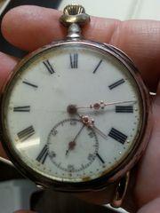 Taschenuhr Antik Silber von 1884