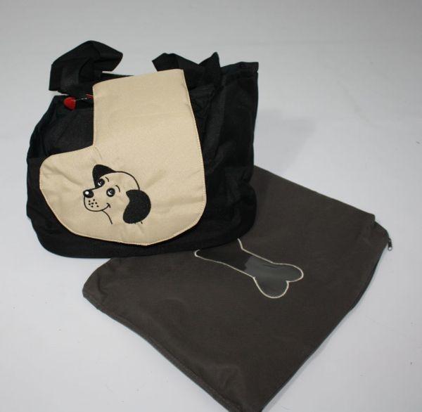 Hundetragetasche Modell Burcina schwarz beige