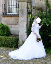 Brautkleid Hochzeitskleid weiß trägerlos Größe