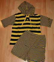 Kapuzen-Shirt Shorts - Größe 92 - für