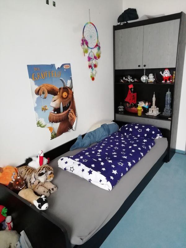 Komplettes Kinder Jugendzimmer In Schwarz Anthrazit In