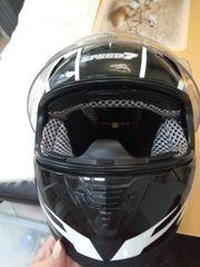 Motorradhelm mit Pilotenvisir Speed Größe
