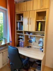 Schreibtisch mit Aufsatz 125cmx245cm und