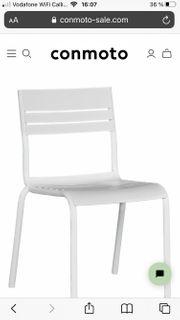 Garpa Mino Gartenstühle in weiß