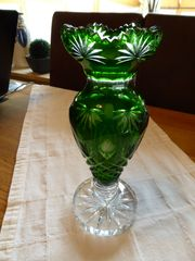 Böhmische Kristallvase
