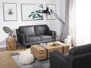 2-Sitzer Sofa Lederoptik grau LOKKA neu